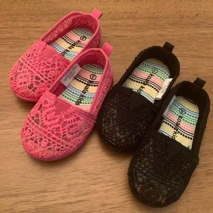 Baby Girl Shoes Size 3 Months Pink and Black
